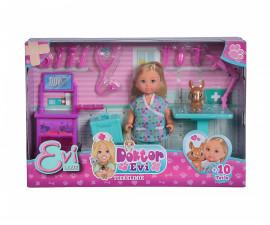 Кукла Evi Love, Simba Toys 105733486 - Еви във ветеринарна клиника