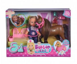 Кукла Evi Love, Simba Toys 105733487 - Еви ветеринар с бременна кобила