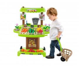Детски комплект Пазар за плодове и зеленчуци, Ecoiffier 7600001741, Ecoiffier 1741
