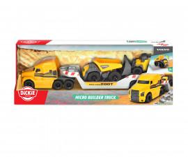 Камион с микро строителни машини, Dickie Toys 203725005