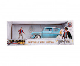 Детски комплект за игра Simba Toys 253185002 - Хари Потър с кола Ford Anglia