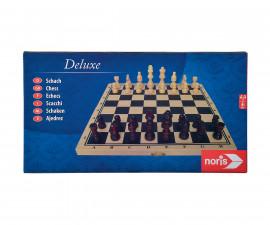 Детска забавна игра дървен шах Delux Noris