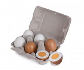 Сет дървени яйца с магнитен механизъм Eichhorn, 10.5 x 16 x 7 см, 7 части