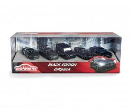Игрален комплект от 5 броя коли Мажорет Black Edition 212053174