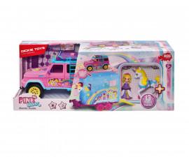 Розова количка Дики, с ремарке и конче 203187000