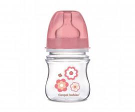 Бебешко шише Canpol Newborn, розово 120 мл