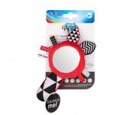 Мека контрастна играчка за бебета със свирка и огледало Canpol 68/080C