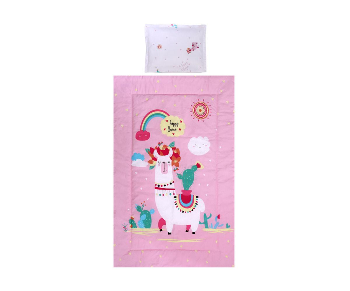 Бебешки спален комплект Lorelli Ранфорс, 3 части, хепи лама 20800014501