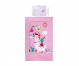 Бебешки спален комплект Lorelli Ранфорс, 4 части, хепи лама 20800024501