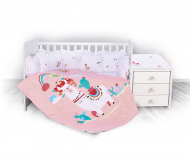 спален комплект за бебе ЛорелиТренд Ранфорс, Хепи Лама