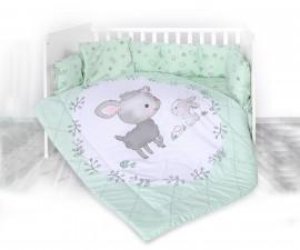 Бебешки спален комплект от 5 части с обиколник Lorelli Ранфорс, агънце резеда 20800084101