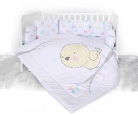 Бебешки спален комплект от 5 части с обиколник Lorelli Ранфорс, пиленце 20800084201