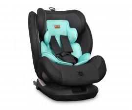 детско столче за кола Лорели Корсика Isofix, Black&Green Star, 0-36 кг.