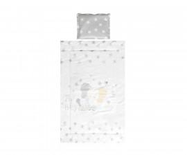 Бебешки спален комплект Lorelli Ранфорс, 3 части, сиво слонче звезди 20800014701
