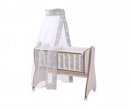 Комплект за бебешка люлка Lorelli Text First Dreams Ранфорс, сиви звезди 20051163501