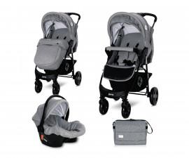 Комбинирана бебешка количка Lorelli Daisy Basic Set, Cool Grey 10021642123