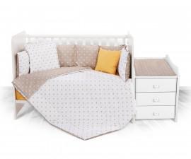 спален комплект за бебе ЛорелиТренд Ранфорс, Корони Лате
