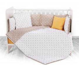 Бебешки спален комплект от 5 части с обиколник Lorelli Ранфорс, корони лате 20800084801