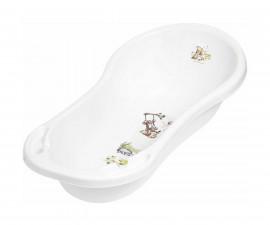 Детска вана за къпане на бебе с източване Lorelli 100 см, Мечо и Приятели бяла 10130182100