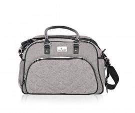 Чанта за количка за бебешки и детски аксесоари с термоджоб Lorelli Viola, Grey 10040280001