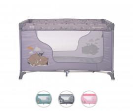 Преносима сгъваема кошара на 1 нивoо за бебе за спане и игра Lorelli Moonlight, асортимент 1008039
