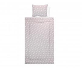 Бебешки спален комплект от 4 части Lorelli Ранфорс, абстрактни листа сиво/бежово 20800025001