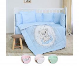 Бебешки спален комплект от 5 части с голям обиколник Lorelli Ранфорс, асортимент 2080008