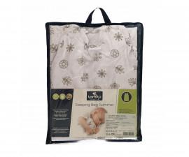 Лятно спално чувалче за бебе Lorelli Ранфорс 85 см, бяло с листа 20810345001