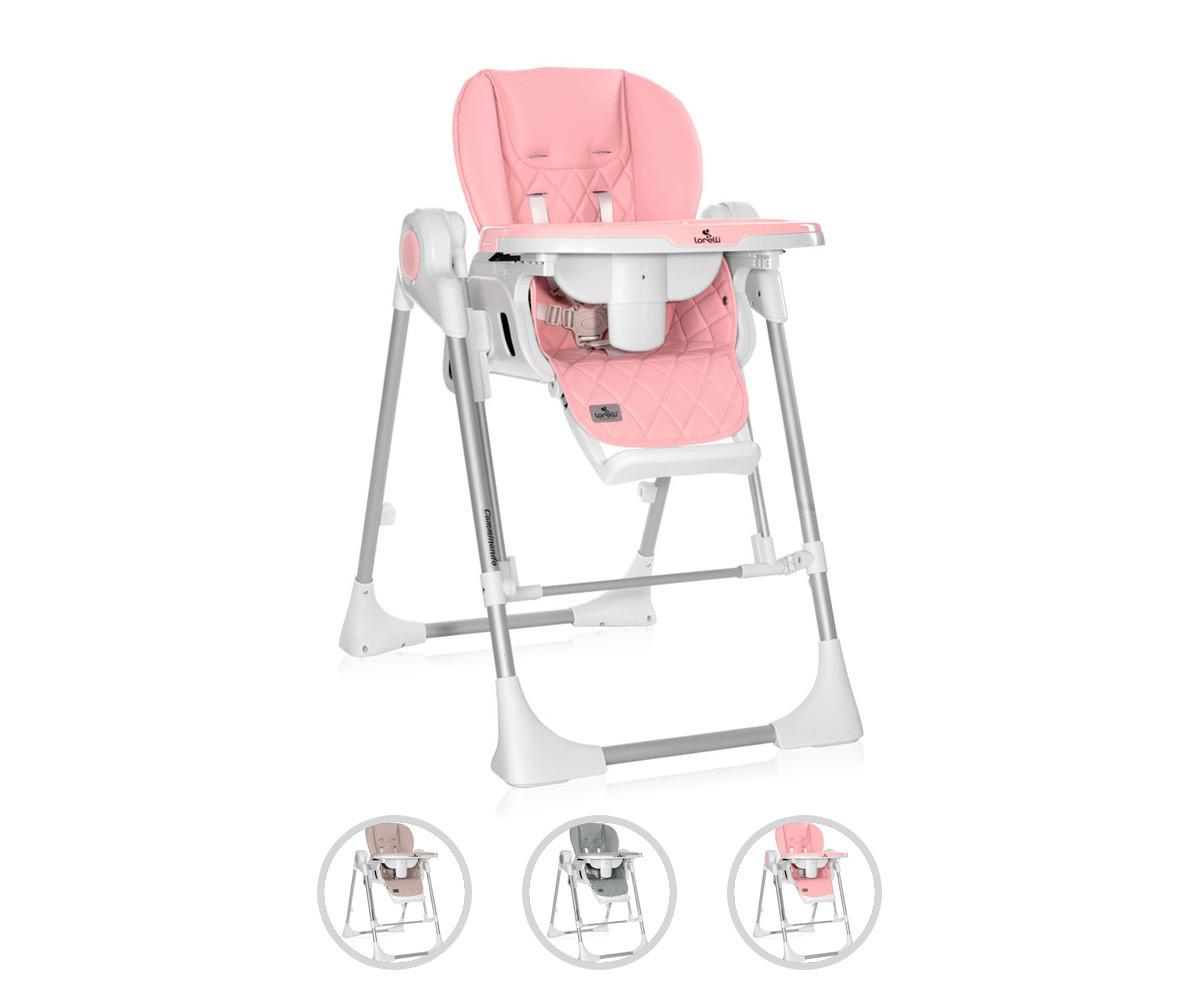 Сгъваемо столче за хранене с функция люлка на дете до 15кг Lorelli Camminando, асортимент 1009004