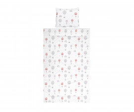 Бебешки спален комплект от 3 части Lorelli Cosy 3 Ранфорс, сиви балони 10420015301