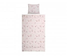 Бебешки спален комплект от 3 части Lorelli Cosy 3 Ранфорс, екрю зайчета 10420015501