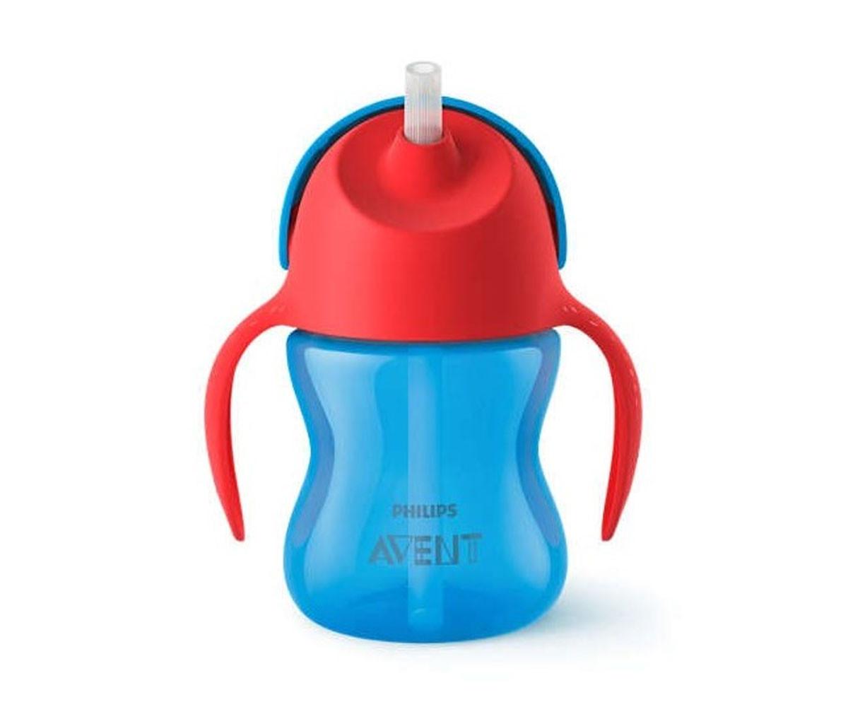 Бебешка чаша със сламка Philips-Avent, 200 мл, 9м+, за момче