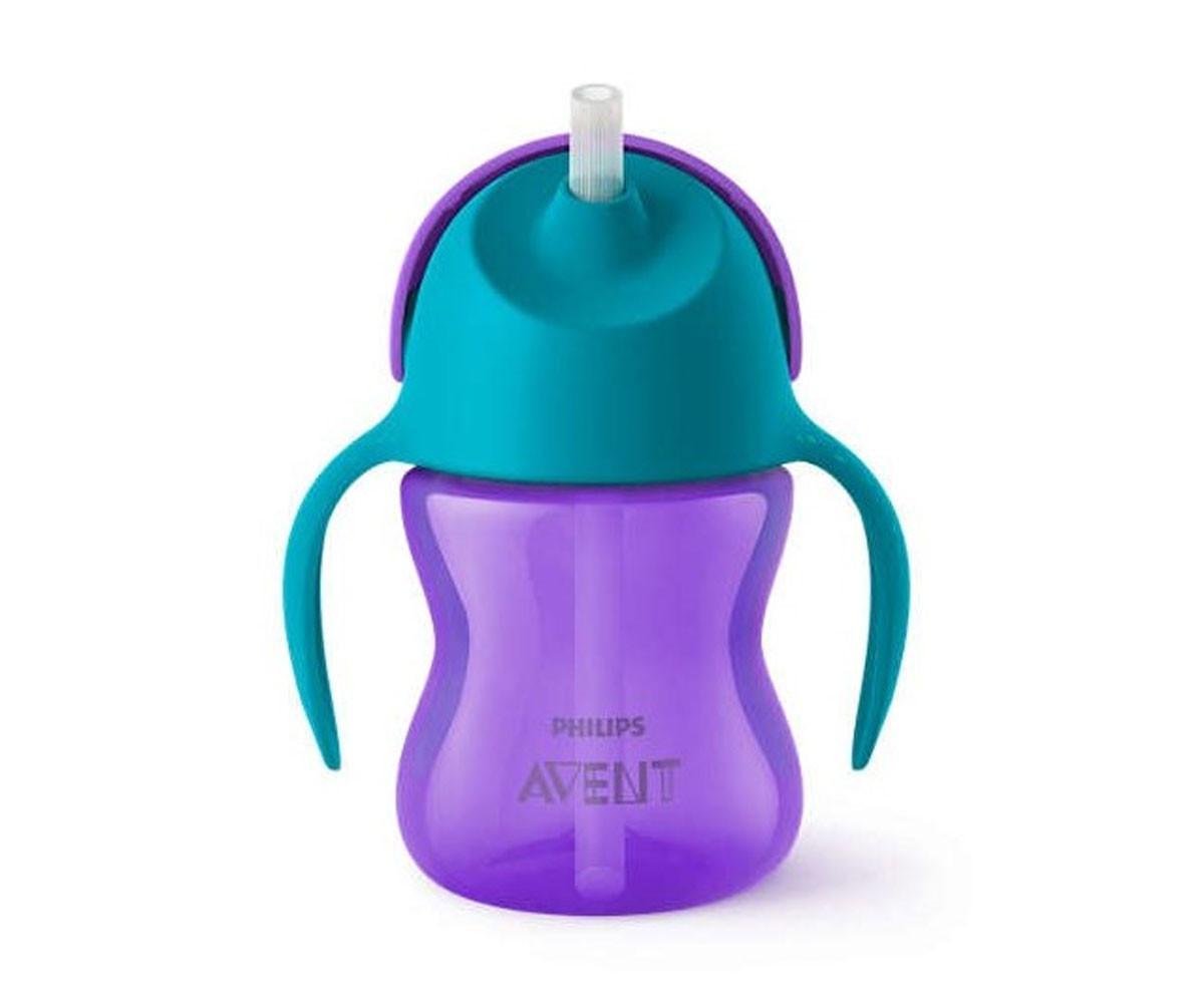 Бебешка чаша със сламка Philips-Avent, 200 мл, 9м+, за момиче