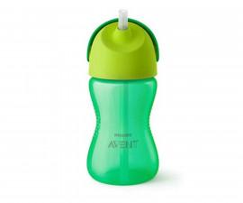 Бебешка чаша със сламка Philips-Avent, 300 мл, 12м+, за момче