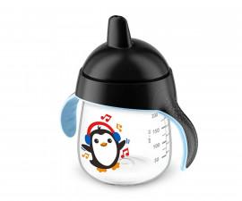 Неразливаща се чаша за деца с твърд накрайник Philips-Avent, 260мл, пингвинче, 12м+ 00A.0484.002