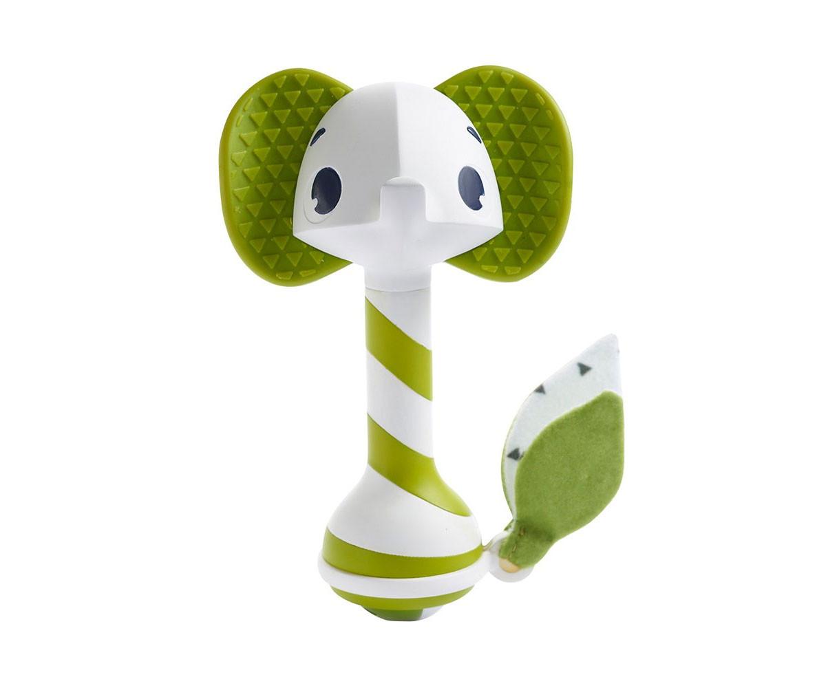 Дрънкалка-гризалка Tiny Love Samuel Elephant, зелено слонче 3м+
