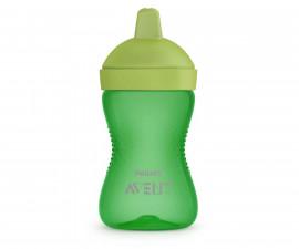 Неразливаща се чаша за деца с твърд накрайник Philips-Avent, 300мл, момче, 18м+ 00A.0527.001