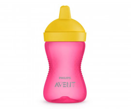 Неразливаща се чаша за деца с твърд накрайник Philips-Avent, 300мл, момиче, 18м+ 00A.0527.002