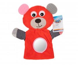 Ръкавица за куклен театър с чесалка Canpol Bears, корал 68/076_cor