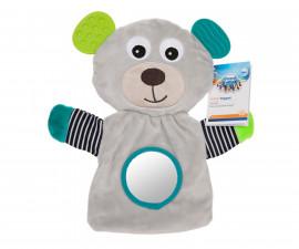 Ръкавица за куклен театър с чесалка Canpol Bears, сива 68/076_gry