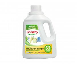 Концентриран гел за пране на бебешки дрехи с омекотител Friendly