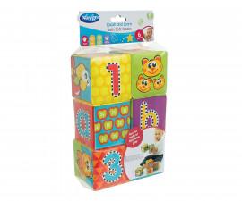 Меки кубчета за баня 123 Playgro, 6 броя, 6м+