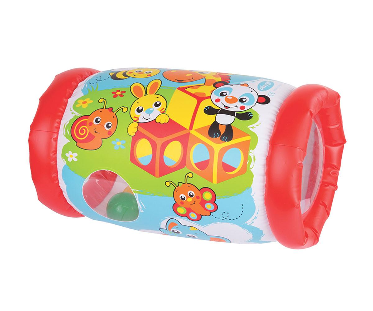 Надуваема играчка Playgro, валяк, червен, 6м+