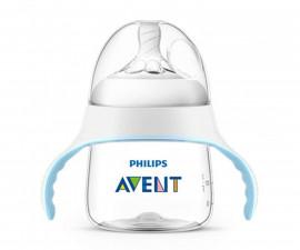 Бебешко шише за хранене и пиене Philips-Avent Natural, тренировъчно за преход към чаша