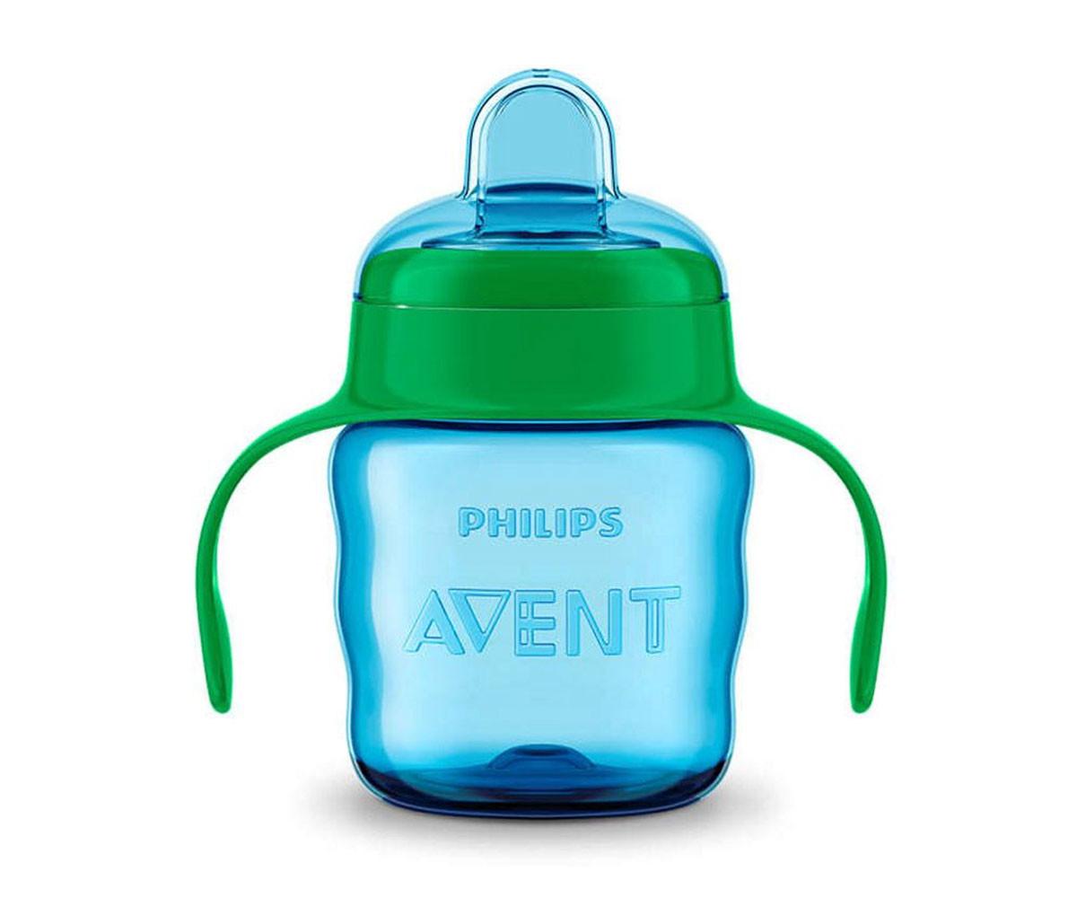 Детска преходна чаша с дръжки Philips-Avent 200 мл, зелена