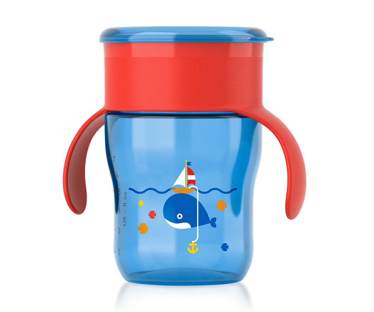 Детска чаша за лесен и плавен преход с дръжки Philips-Avent, 260 мл.