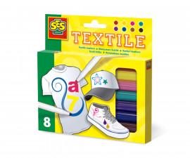 Текстилни маркери за рисуване 8 броя SES
