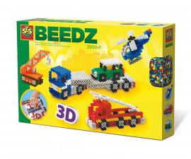 Комплект мъниста за деца 3Д превозни средства СЕС