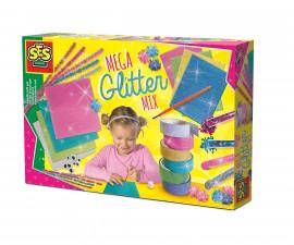 Детска играчка за апликация - СЕС - Голям комплект с брокат