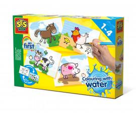 Детски комплект за игра - Оцвети с вода животните от фермата СЕС
